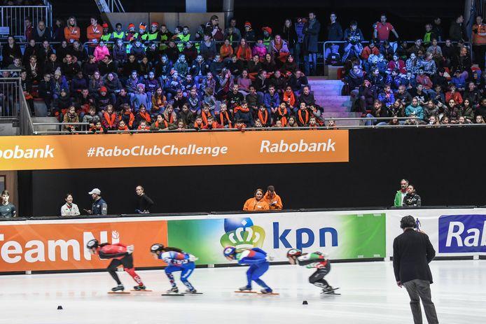 De ISUWorld Cup-finale shorttrack in februari 2020. Dit jaar kan er door corona geen publiek bij aanwezig zijn.