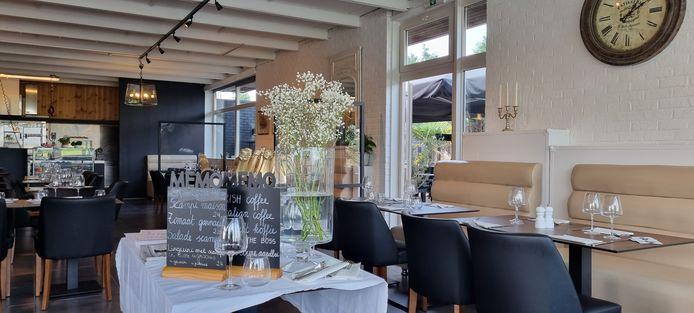 Het oude baancafé werd helemaal verbouwd tot een gezellig restaurant.