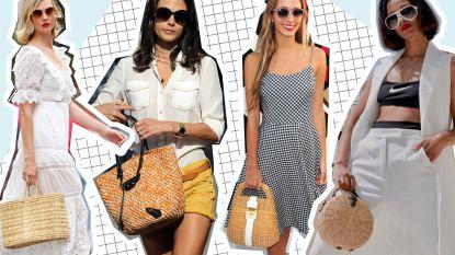 De zomer van de rieten handtas: 15 exemplaren die nu helemaal hip zijn