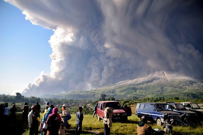 Mount Sinabung.