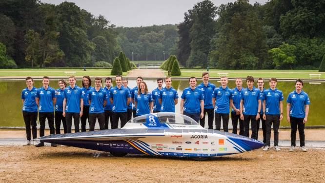 """Agoria Solar Team van KU Leuven onthult haar nieuwste zonnewagen. """"Eerste uitdaging: 2.500 kilometer door de Sahara"""""""