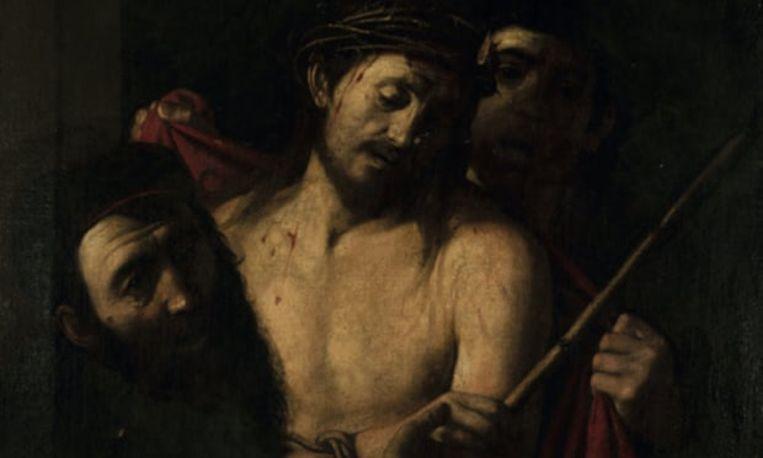Detail van het zeventiende-eeuwse werk dat eerst aan de Spaanse schilder Ribera werd toegeschreven, maar dat mogelijk een Caravaggio is. Beeld ansorena.com