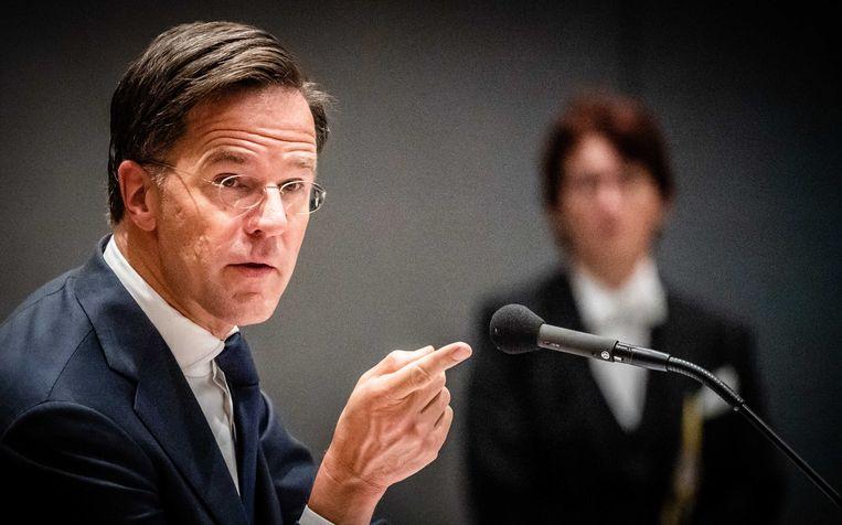 Demissionair premier Mark Rutte krijgt extra zware beveiliging. Beeld ANP