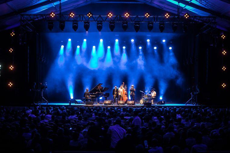 Pharaoh Sanders op Gent Jazz 2018.  Beeld BAS BOGAERTS