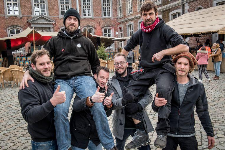 De presentatoren van Studio Kontrabas, dat vorig jaar op het kasteeldomein plaats vond.