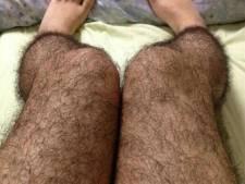 Harige panty's om mannen weg te houden