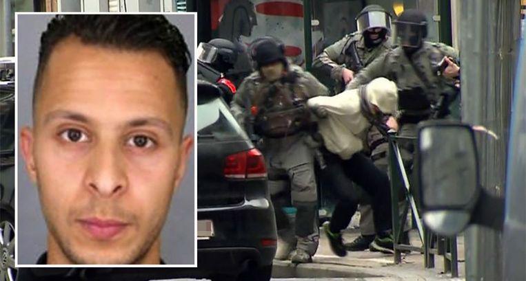 Abdeslam werd op 18 maart 2016 opgepakt in Molenbeek, vier dagen voor de aanslagen in Brussel. Beeld ap