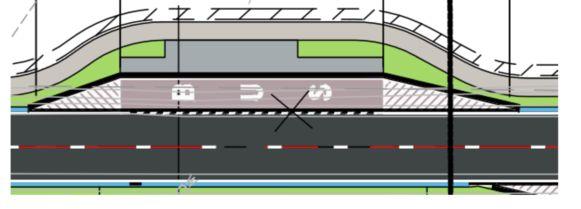 De Lijn bouwt uitstulpende bushaltes, zodat de autobussen naast de weg kunnen staan.