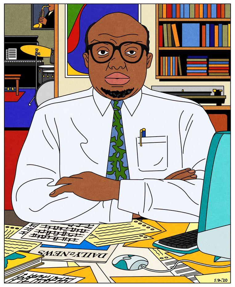 Stanley Crouch zag de zwarte Amerikaan als vertegenwoordiger van goede smaak en hoge cultuur.  Beeld Seb Agresti