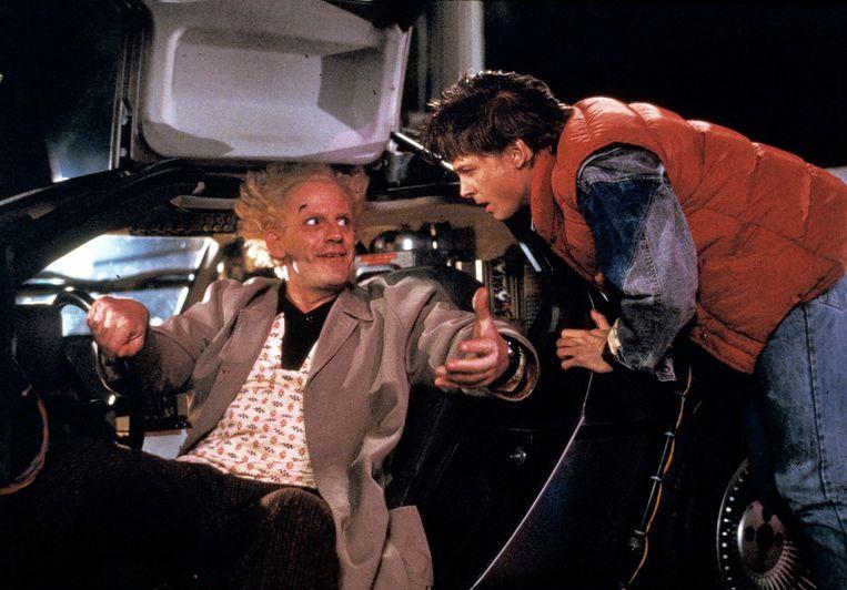 'Back To The Future' (1985) van Robert Zemeckis: niet de eerste film over tijdreizen maar wel het ijkpunt in het genre. Beeld Universal