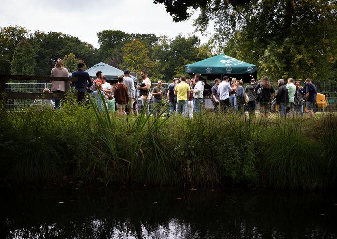 Het Lekker Ding Festival in de kasteeltuin in Deurne.