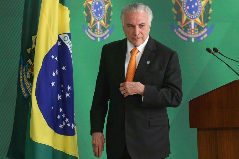 De Braziliaanse president Michel Temer. Beeld AFP