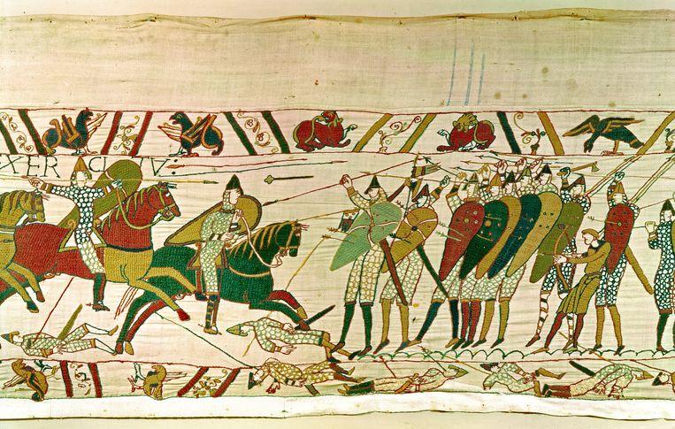 Het Tapijt van Bayeux dateert uit 1066.  Beeld Belga