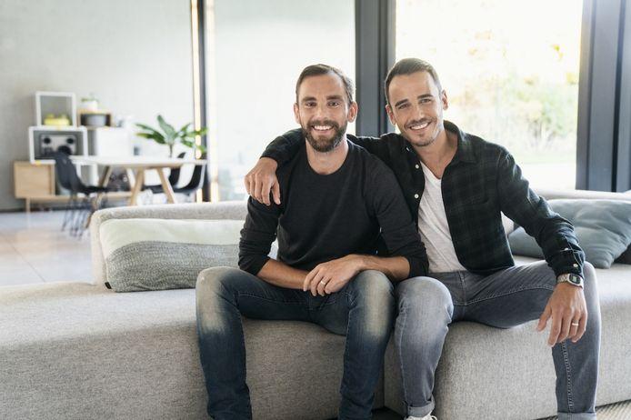 Nick Laenen en Christophe Ramont deden vorig seizoen mee aan het VTM-programma 'Blind Getrouwd'.