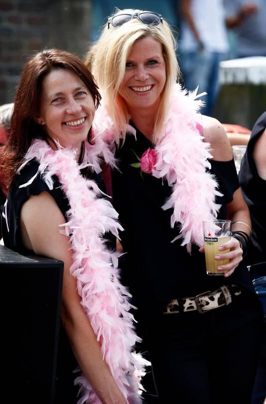 Bertie en Esther tijdens de Canal Parade in 2015.