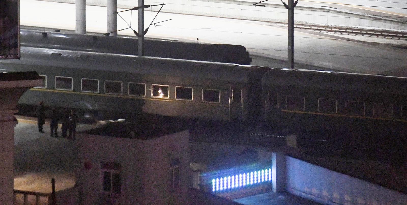 De gepantserde trein van Kim Jong-un