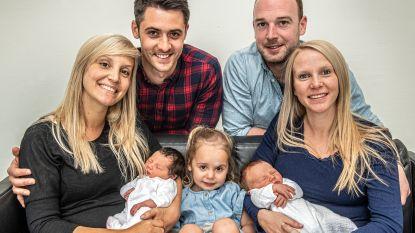 Zussen bevallen op zelfde dag in zelfde ziekenhuis van dochtertje (en zelfs de naam die ze kozen blijkt bijna identiek)