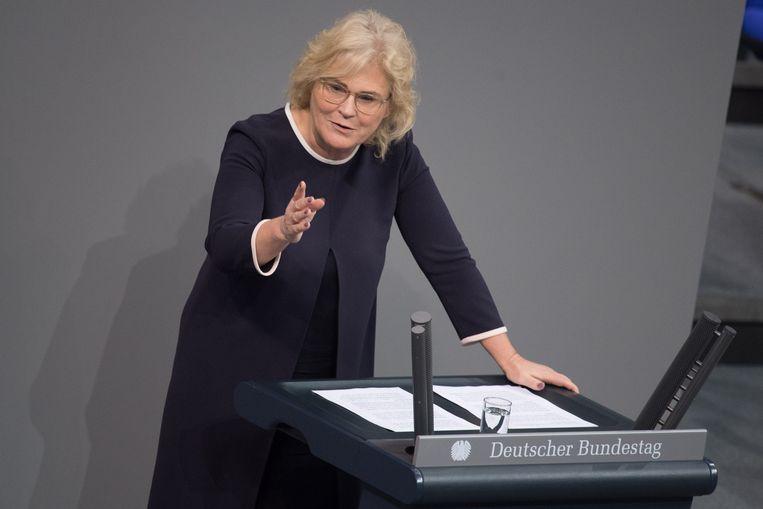 De Duitse minister van Justitie Christine Lambrecht.