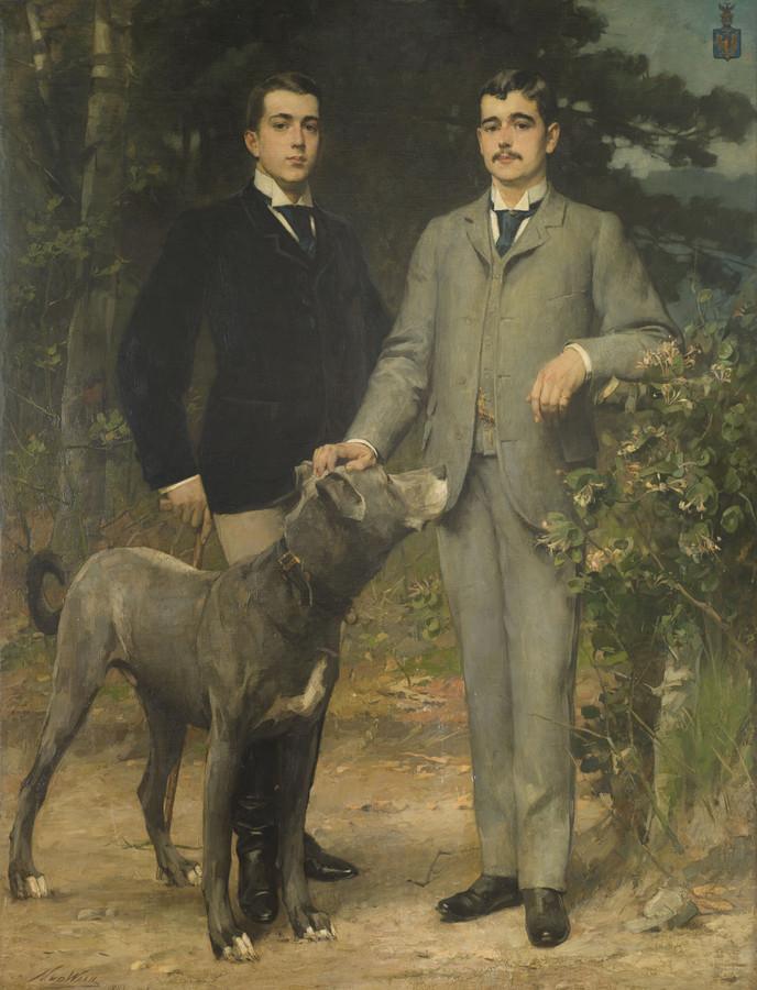 Aarnoud baron van Heemstra (links) en zijn oudere broer Hendrik.