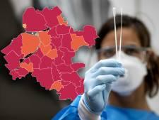 KAART | Driekwart Oost-Nederland kleurt in de afgelopen week donkerrood, kijk hier hoe het in jouw gemeente is
