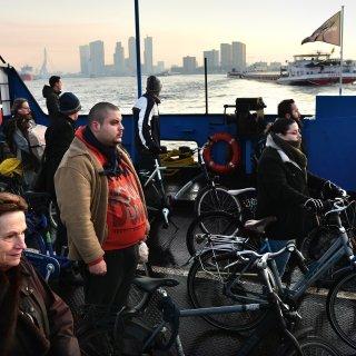 Tijdelijke veerpont valt in de smaak in Rotterdam: 'Je ziet de stad heel anders'