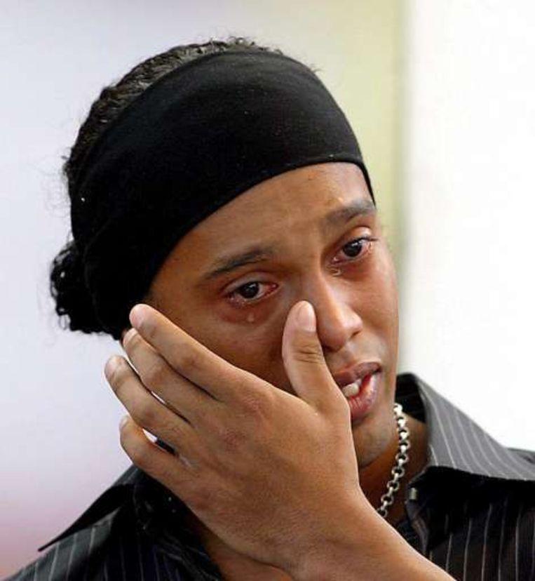 Eindigt de carrière van Ronaldinho als topvoetballer in tranen? Beeld UNKNOWN