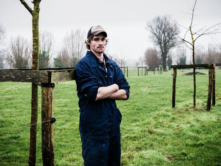 Nils Mouton is een klimaatboer.  Beeld Geert Braekers