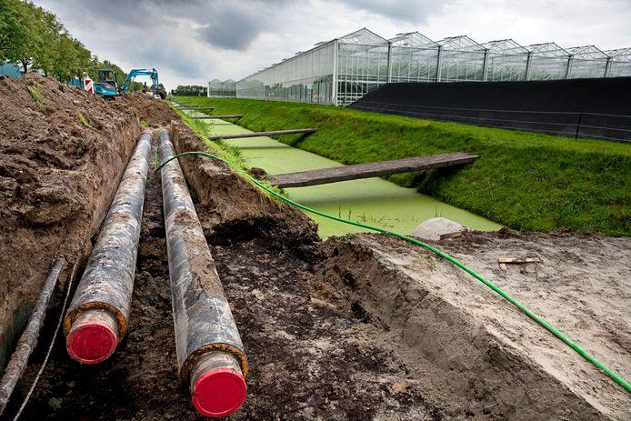 Een aardwarmteproject in een tuinbouwgebied in het Zuid-Hollandse Brielle. Aardwarmte of geothermie is kansrijk om toe te passen in woningen, zegt Puk van Meegeren van Milieu Centraal.