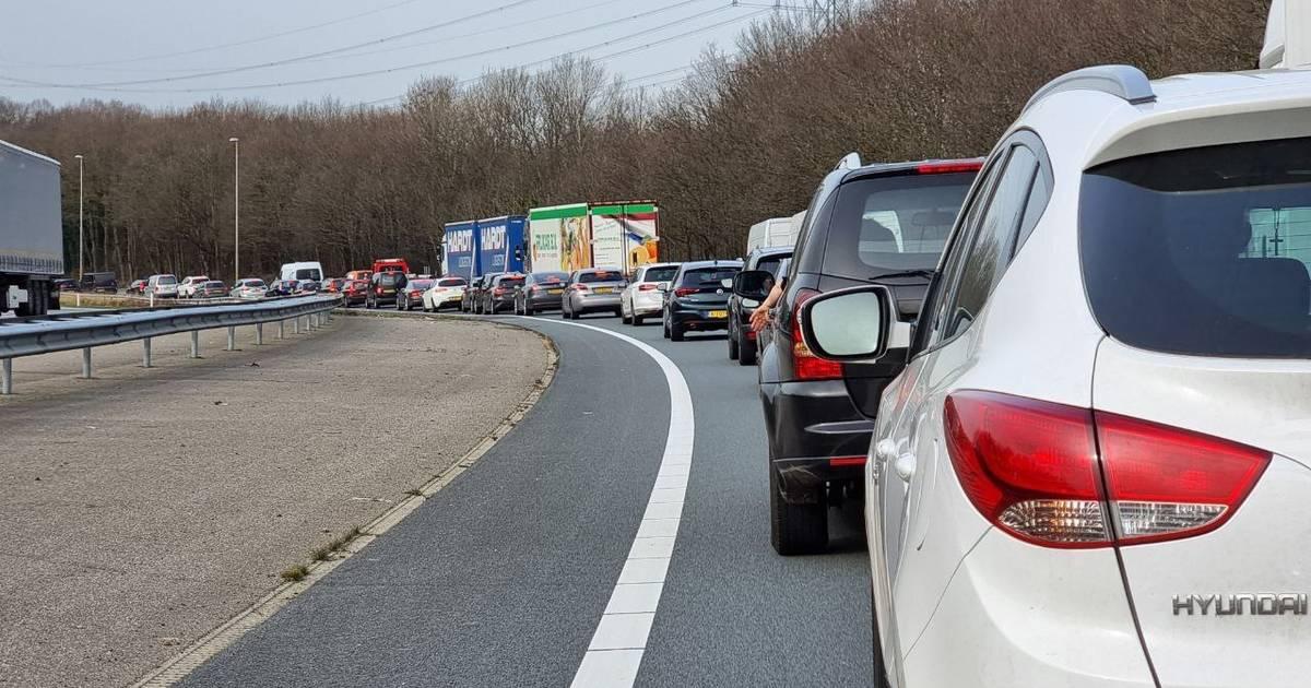 Flinke file na aanrijding op A1 bij Borne.