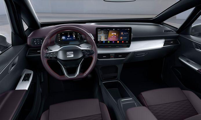 Het dashboard van de ID.3 lijkt veel op dat van een studiemodel van Seat, de El Born