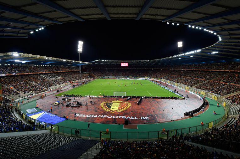 ► Het Koning Boudewijnstadion werd in 1930 in gebruik genomen. De laatste grote renovatie dateert van 1995. Beeld Photo News