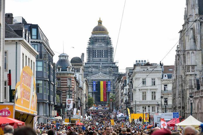 Bruxelles en fête lors de la fête nationale, en 2012.