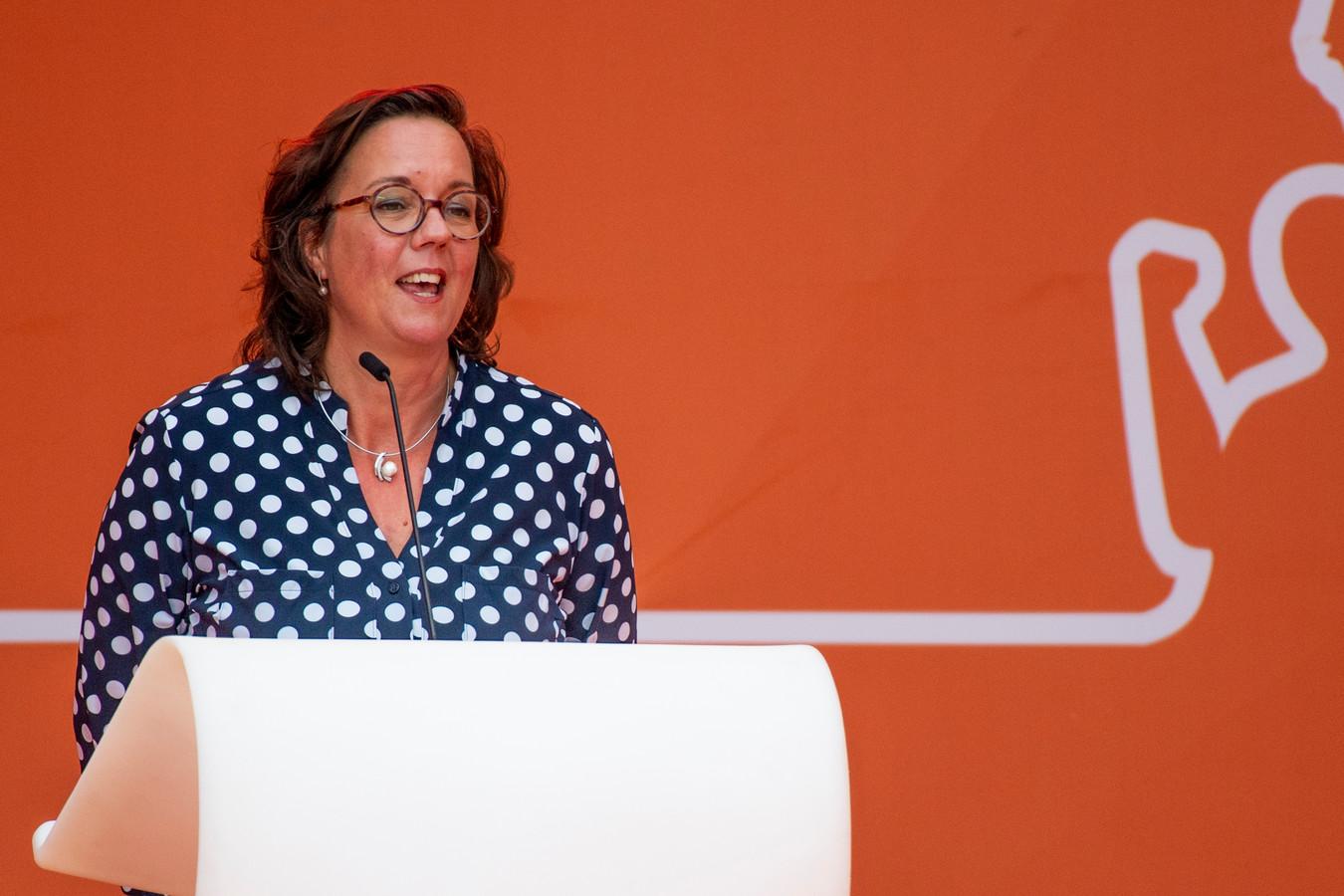Minister Tamara van Ark woonde onlangs de opening van het TeamNL Olympic Festival in Den Haag bij.