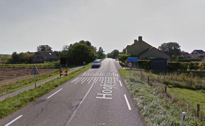 Entree buurtschap Driewegen tussen Hoofdplaat en Driewegen.
