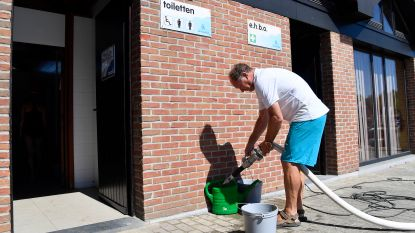 Te droog: wc's voor 2.000 gasten met emmertjes gespoeld