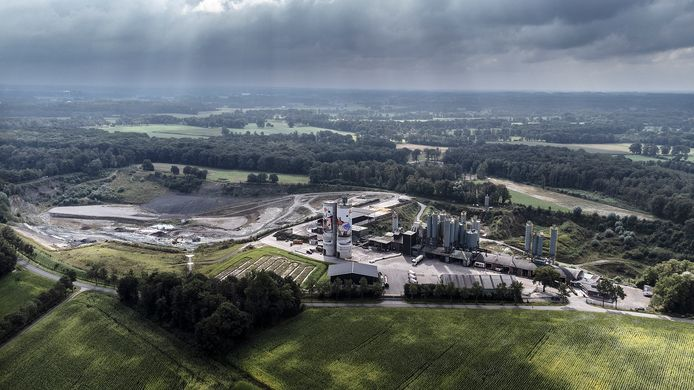 Steengroevefabriek Sibelco.