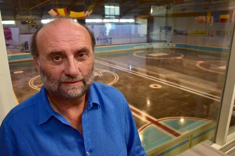 CEO Marc Garreyn voor de schaatspiste
