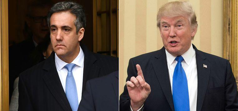Michael Cohenen de Amerikaanse president Donald Trump. Beeld AFP
