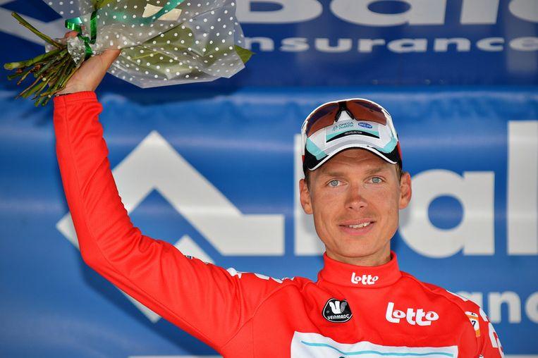 Tony Martin blijft in het bezit van de rode trui. Beeld AFP
