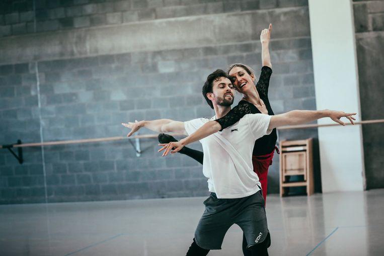 Hanne met haar danspartner Gabor Kapin.