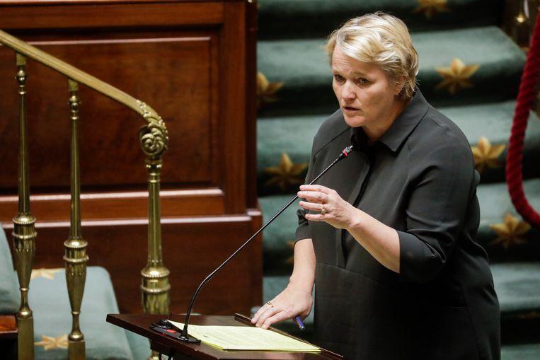 Federaal minister van Economie Nathalie Muylle (CD&V) werd pas in maart minister. Tot dan was ze een degelijk, maar onopvallend parlementslid. Beeld BELGA