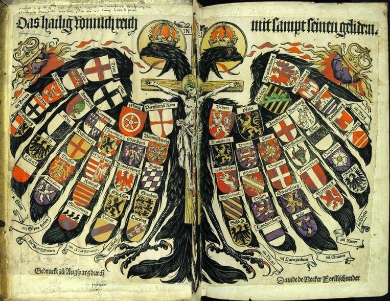 Volgens Catholica is de tweekoppige adelaar van het Habsburgse Rijk 'het symbool van het Oude Europa', waarnaar de auteurs terugverlangen. Beeld
