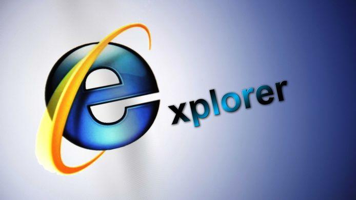 Het oude logo van Internet Explorer.