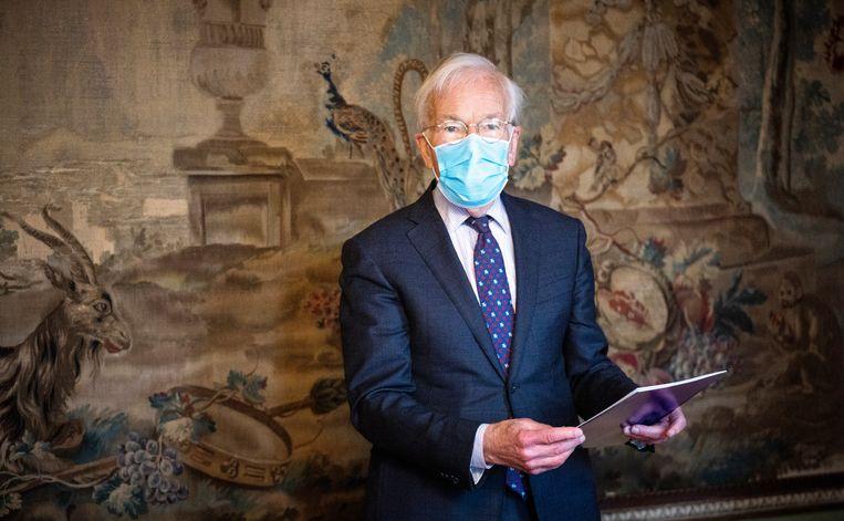 Informateur Herman Tjeenk Willink in de Stadhouderskamer in de Tweede Kamer. Beeld Freek van den Bergh / de Volkskrant