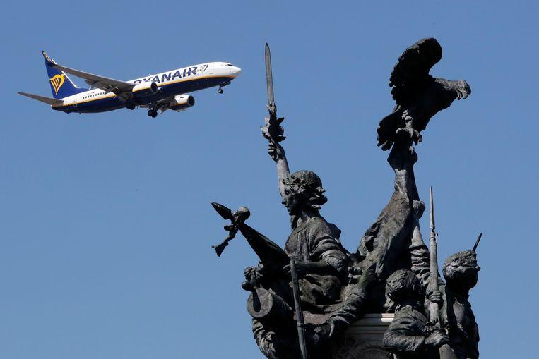 Ryanair verwacht dat het verlies over het afgelopen jaar uitkomt tussen de 800 en 850 miljoen euro. Beeld AP