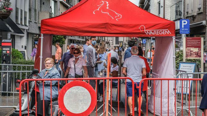 Een beeldje van op de batjes in Waregem enkele weken geleden. De citycoach moet onder meer evenementen als dit mee in goede banen leiden, samen met de handelaars van Winkelen in Waregem.