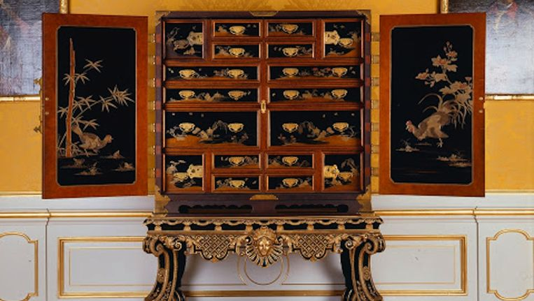 Een van de lakkabinetten die in het Rijksmuseum te zien zal zijn. Beeld Rijksmuseum