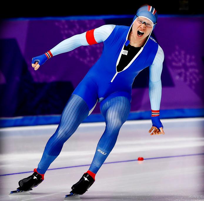 Lorentzen schreeuwt het uit na zijn gouden race op de 500 meter.