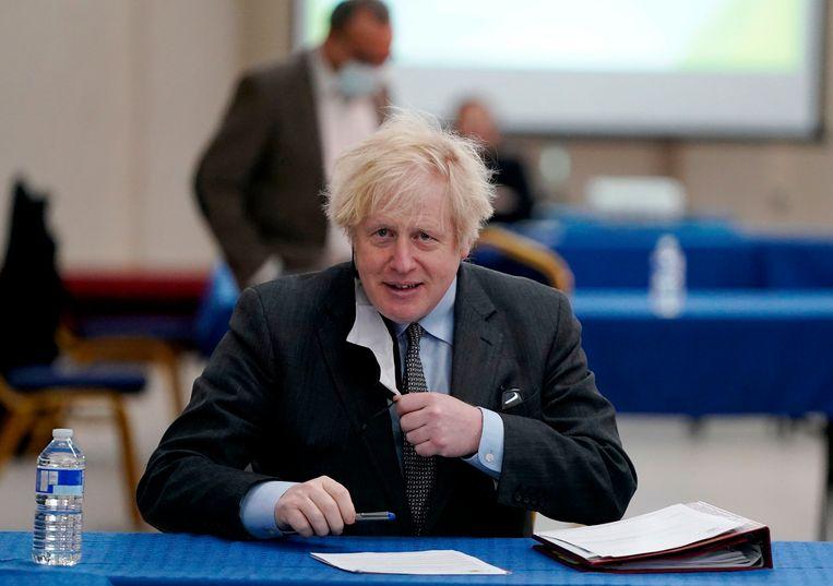 Brits premier Boris Johnson waarschuwde dat exportbeperkingen zouden hebben geleid tot grotere sterfte onder Britse bejaarden. Beeld AFP