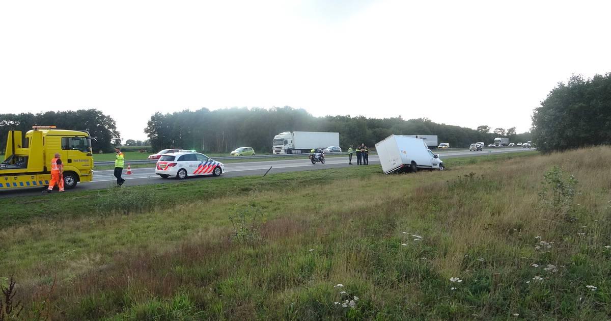 Ongeval op A28 bij de Wijk veroorzaakt in beide richtingen files.